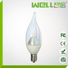 3W 5W E12 ETL UL led Candle light for chandelier intertek led