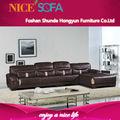 venda quente sofá contemporâneo moderno mobiliário de couro italiano sofá em l a803l