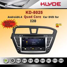 professional car dvd 2 din quad core RAM 1GB ROM 16GB android4.4 syetem HD car DVD GPS navigation for I20