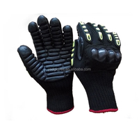 10 Gauge Cut Resistant Anti-vibration Rubber Coated Safety Gloves