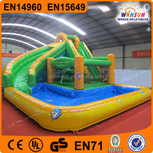 Cheap Factory Giant Inflatable Water Slide of 8x6.6x4m