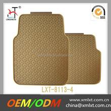 universal non skid pvc car floor mat golden easy clean mat
