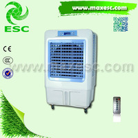 Standing floor tower fan with air cooler air cooler water less