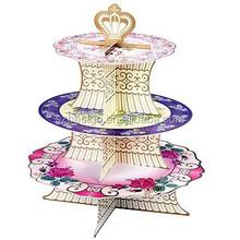 3 tier heart shape wedding cardboard cake stand