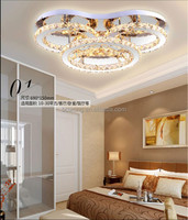 new style ceiling lamp led Golden ring crystal ceiling light hot sell