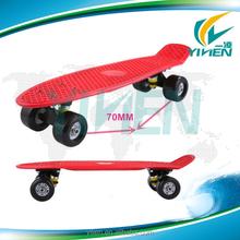 22'' cruiser skateboard red board 70mm wheels plastic skateboard