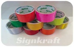 High Visibility PVC material, self adhesive 1500 fluorescent color Reflective Tape for vehicles, helmet stickers