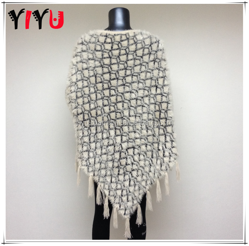 Women V Pattern Knitted Poncho Sweater,Mexican Ponchos For Sales - Buy Ladies...