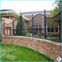 Galvanized Powder Coated 3-Rails Flat Top corrugated aluminum fence