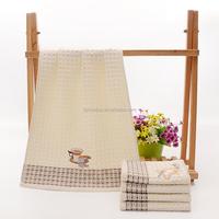 100% cotton custom printing plain tea towel