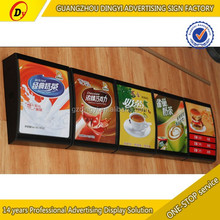 easy change pictures wall mounted menu light box