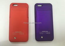 New Colors Red Purple for iPhone 6 External Battery Case 3500mah Flip Cover Optional