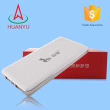 Huanyu new issued 12000mah rechargeable and long cycle life power bank for all mobile phone
