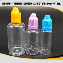 China manufacturer of full form pet e liquid dropper bottles