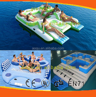 inflatable floating island/inflatable floating mat/inflatable water floating bed