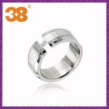 Stainless steel Ring+beautiful white zircons,crystal rings+big stone ring