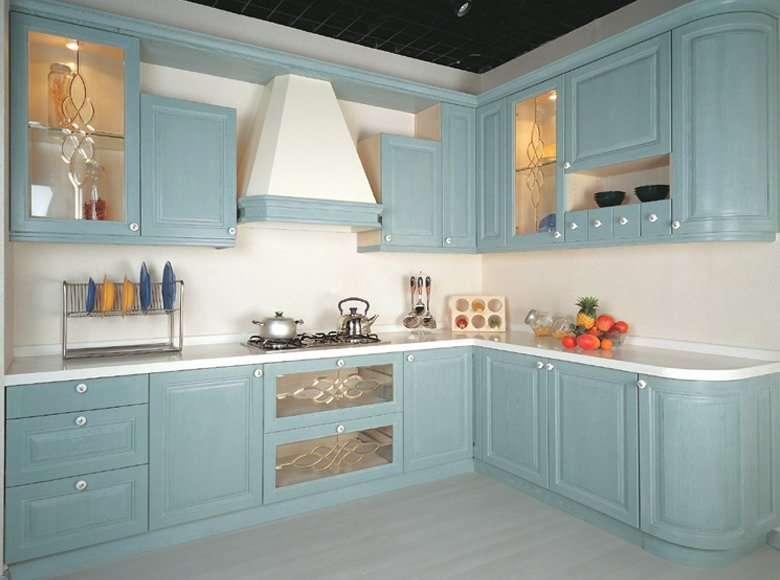 PVC Kitchen Cabinets Wood Veneer Cabinets PVC Cabinetry Kitchen