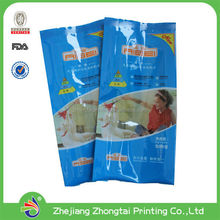 side gusset pouch for tea, coffee, dumpling, bread, dry fruit, snack, rice, pet food package with transparent window