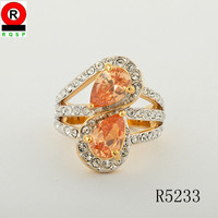 Topaz fashion gemstone ring 2014 new product jewelry wholesale unique jewelry ring for wedding gift
