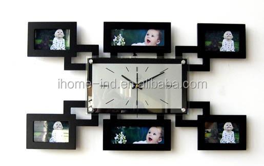 Mdf cadre photo horloge murale avec design de mode( ih