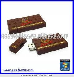 novelty chocolate chunk USB Flash Drive, 2.0 4gb usb flash