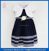 children clothing girls dress sleeveless dress & shawl 002
