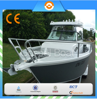 21ft center cabin aluminum fishing boat with walkaround