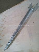Galvanized steel ground screw pole anchor/earth screw pole anchor