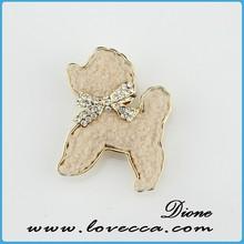 Lovely brooch for bag decor,lovely dog shape rhinestone brooch,new brooch for children decor