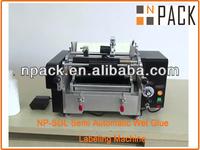 Semi-automatic glue labeling machine