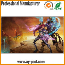 AY Washable & Foldable Sublimation Printing Game Play Mat For Adult Non-slip Mat Nutral Rubber Play Mat
