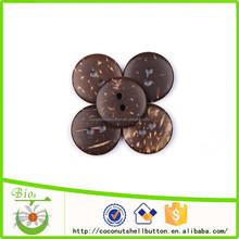 Diy 2 holes natural coconut shell wood kids handicraft making button