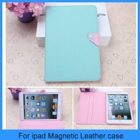 For Apple iPad Mini New Mint Pink Magnetic Leather Folio Stand Smart Case Cover iPad Mini Case