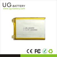 Rechargeable Battery Flat Cell 3.7v 1800mah Li polymer Battery