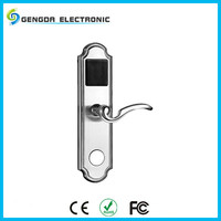 Zinc Alloy Silver And Golden RFID Card And Key Access Hotel Lock