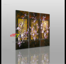flower art designing oil paintings on canvas Chinese traditional purple flowers