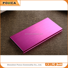 promotion Portable Fashion gift ultra slim Mobile power, 12000mAh metal power banks for iPhone, iPad, Samsung, HTC
