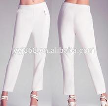 Sofisticado estilo plástico de pantalones plisados figura- halagador con bolsillos de moda abrigo de tracey costura pantalones