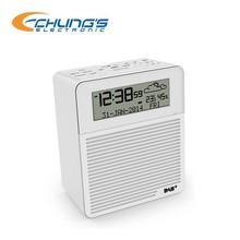 Compact indoor humidity DAB+/FM alarm clock radio