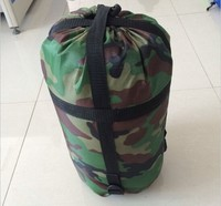 Aimika OEM camo outdoor military camouflage waterproof envelope sleeping bag with pillow