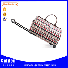 600D polyester modern elegance travel duffel bags nylon material carry on trolley bags for girls