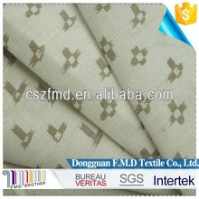 Newest printed 100 flax linen fabric