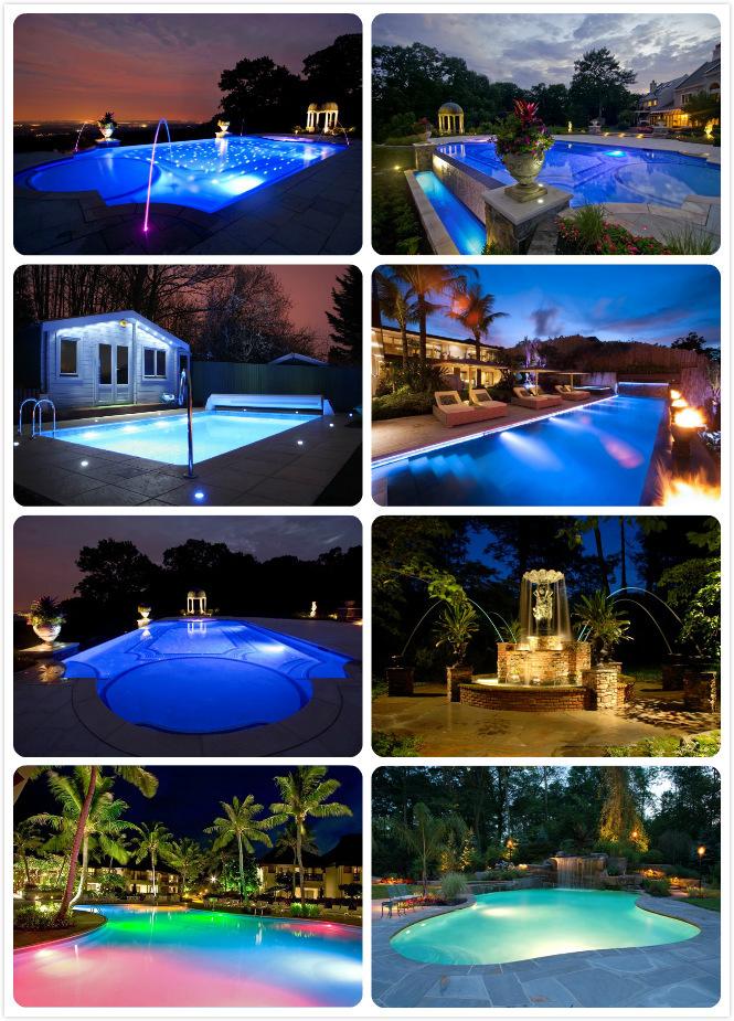 RGB LED swimming pool light 8W /18W/ 30W/35W/40W/45W/54W high power