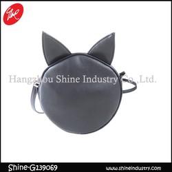 fashion design cat ears cute mini black shoulder bag