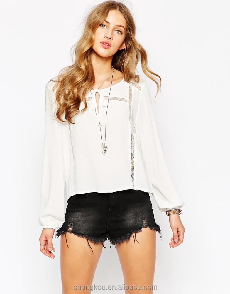 White Blouse Girls Size 6 - Silk Pintuck Blouse