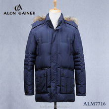 ALON GAINER(R)Fashion Raccoon collar warmth Senior cotton-padded clothes for men