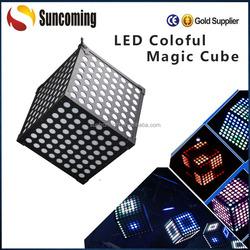 2015 Hanging Ceiling Decoration Magic Cude RGB 3IN1 3D Led Disco Light