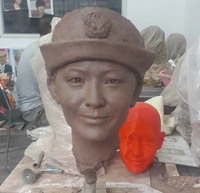 Decoration clay statue draft or mud sculpture for wax figure