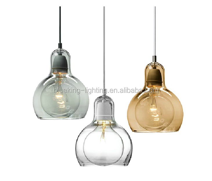 Opal or amber color glass ball bk2001p hand blown glass - Colored glass pendant lights ...
