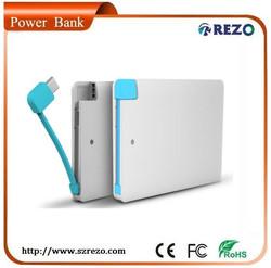 Hot Item!Credit card 2000mah mobile backup battery charger/powerbank